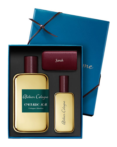 Exclusive Emeraude Agar Cologne Absolue  200 mL with Personalize Travel Spray  30 mL
