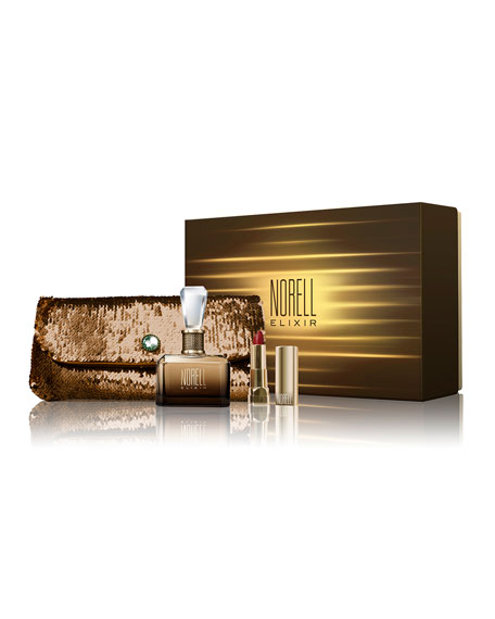 Norell Elixir Perfume, Clutch & Lipstick Boxed Gift