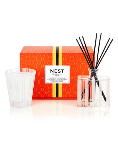 Classic Candle & Reed Diffuser Set - Sicilian Tangerine  ($82 Value)
