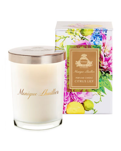 Monique Lhuillier Citrus Lily Crystal Candle, 7 oz.
