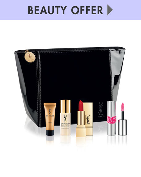 Receive a free 5-piece bonus gift with your $150 Yves Saint Laurent purchase