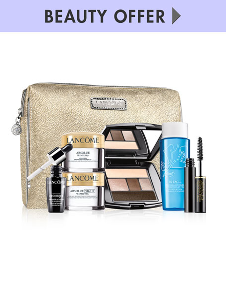 Receive a free 7-piece bonus gift with your $100 Lancôme purchase