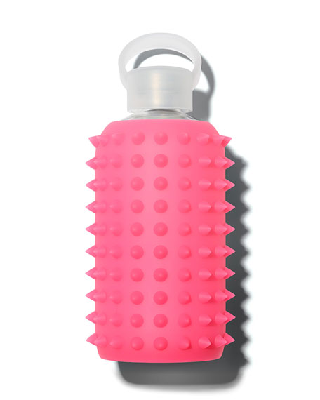 Glass Water Bottle, Spiked Rosy, 500 mL