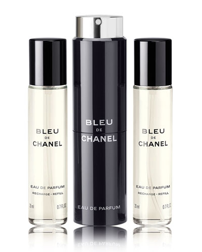 Bleu De Chanel Travel Spray Set  0.7 oz./ 20 mL