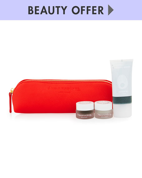 Receive a free 4-piece bonus gift with your $300 Omorovicza purchase