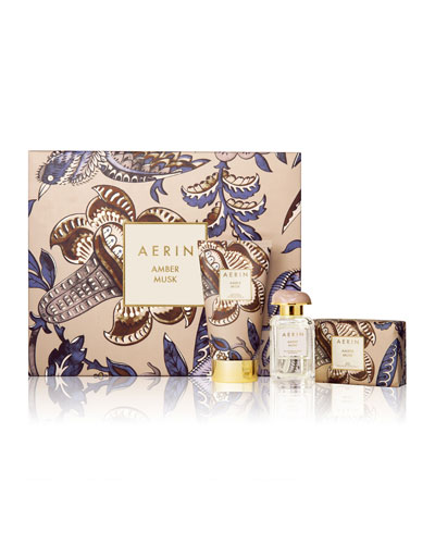 Limited Edition Amber Musk Fragrance Collection Set