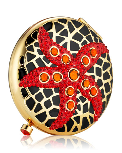 Limited Edition Jeweled Starfish Powder Compact by Monica Rich Kosann