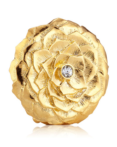 Limited Edition Pleasures Garden Flower Perfume Compact by Monica Rich Kosann