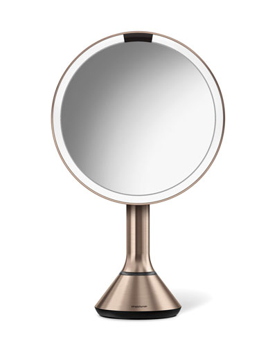 "8"" Sensor Makeup Mirror with Brightness Control  Rose-Tone"