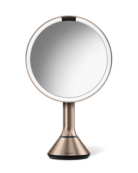 8&#148 Sensor Makeup Mirror with Brightness Control, Rose-Tone