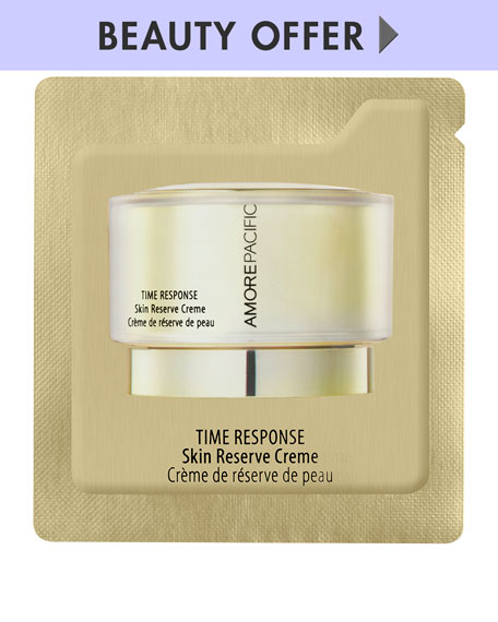 Receive s Time Response Skin Reserve Crème*, yours with any beauty purchase.
