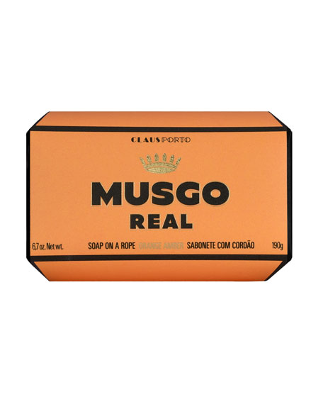 Orange Amber Soap on a Rope, 6.7 oz.