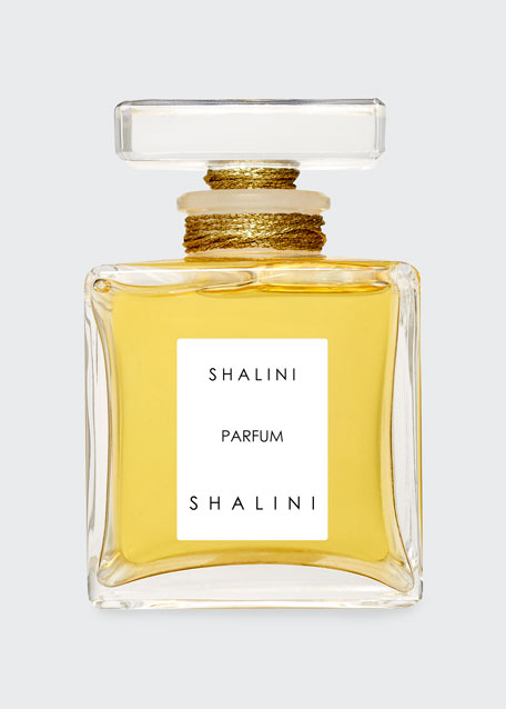 Shalini Parfum Cubique Glass Bottle with Glass Stopper sealed with Gold Thread, 1.7 oz./ 50 mL