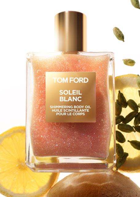 Soleil Blanc Rose Gold Shimmering Body Oil, 3.4 oz./ 100 mL