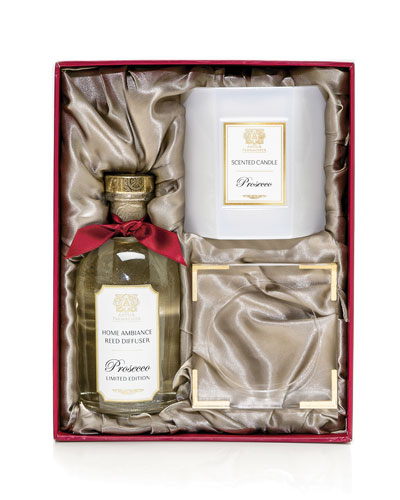 Home Ambiance Gift Set (Diffuser, Candle & Acrylic Tray)