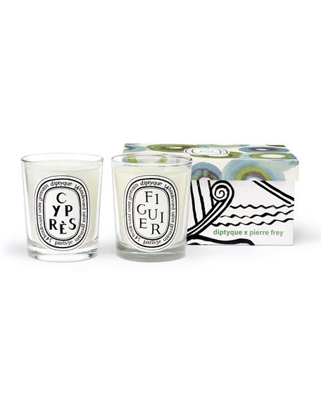 Figuier & Cypres Scented Candle Set, 2 x 6.7 oz./ 190g