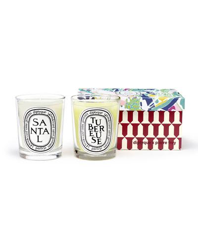 Tuberose & Sandalwood Scented Candle Set  2 x 6.7 oz./ 190g