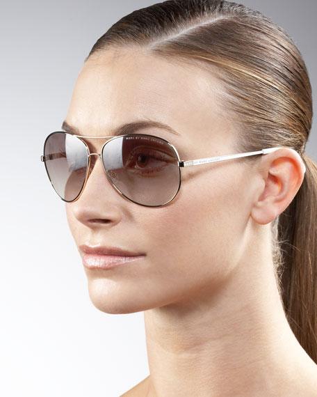 7778b52c0e376 MARC by Marc Jacobs Aviator Sunglasses