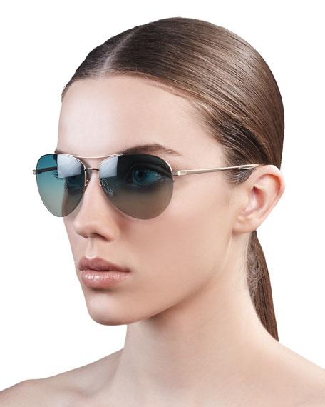 Classic Aviator Sunglasses, Silver