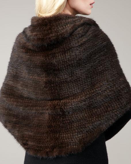Knit Mink Shawl