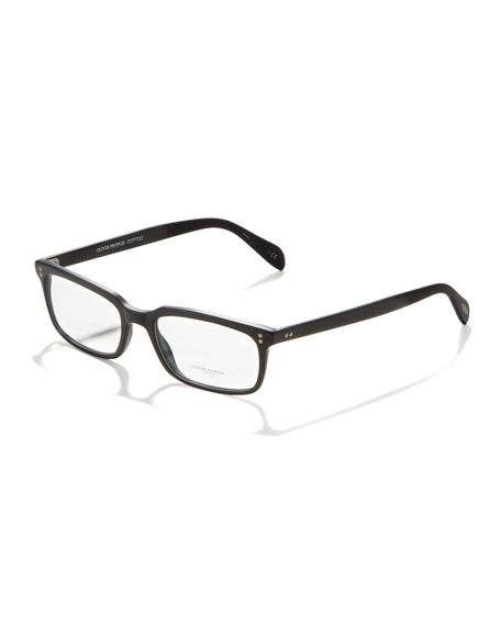 Denison Fashion Glasses, Matte Black