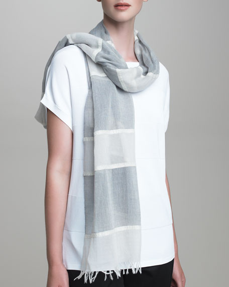 Shimmer-Striped Stole