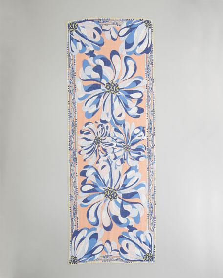 Azalea-Print Stole, Cina