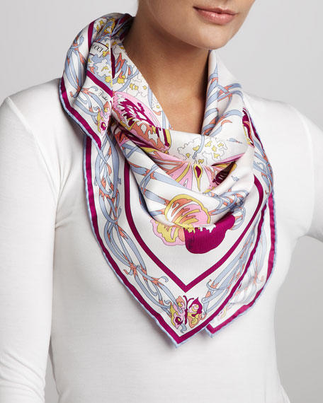 Papilio Butterfly Scarf, White