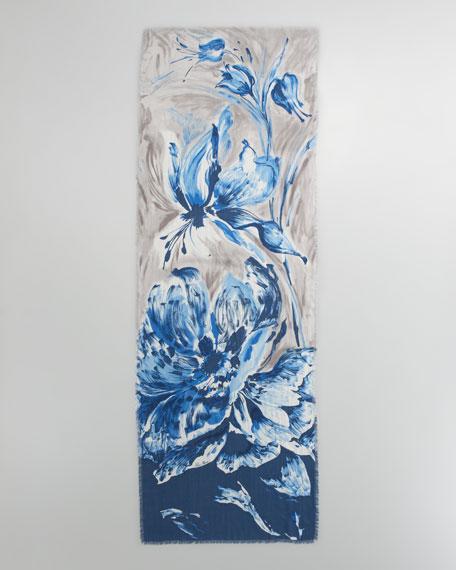 Anemone Soffio Stole, Bluette