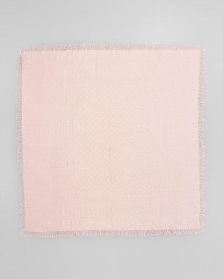 Cavendish Shimmer GG Logo Scarf, Pink/Gold