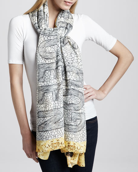 """God Save McQueen"" Honeycomb Scarf"