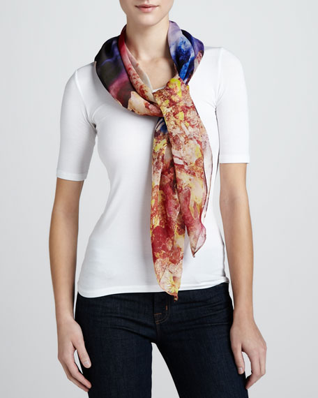 Mineral-Print Square Scarf