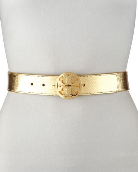Classic Tory Logo Belt, Gold