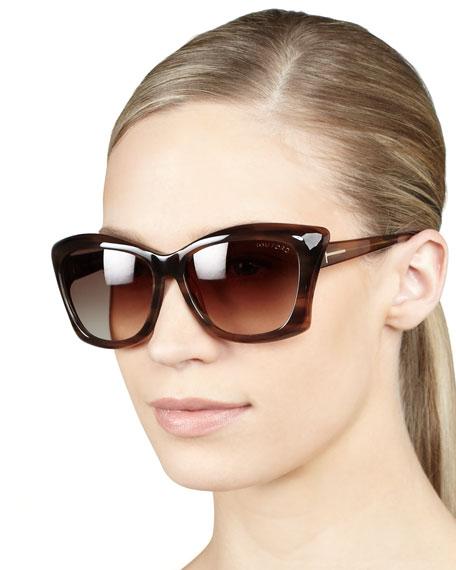 Lana Sunglasses, Shiny Brown