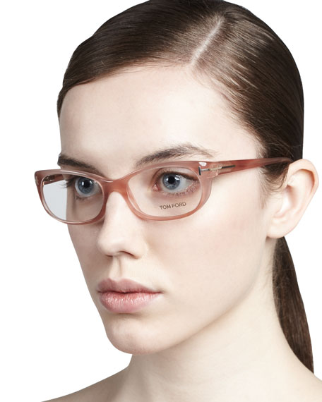 Soft Round Fashion Glasses, Rose Golden