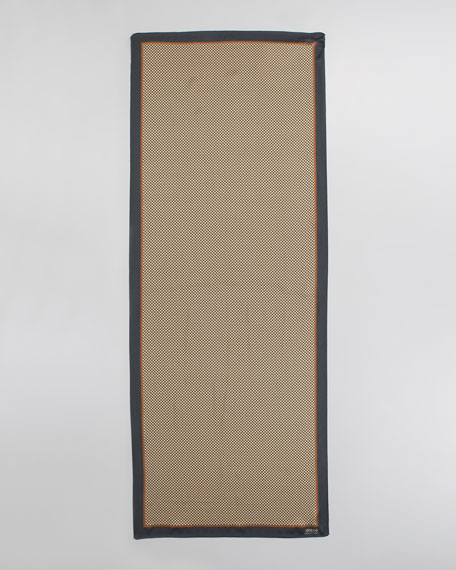Micro Print Silk Stole, Terracotta