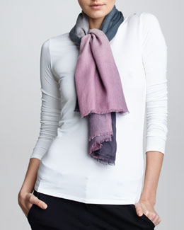 Giorgio Armani Ombre Square Scarf, Grape