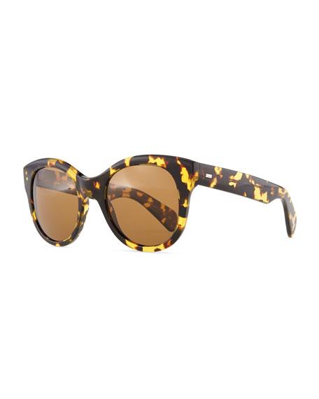 Jacey Polarized Sunglasses, Dark Tortoise