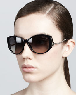 Roberto Cavalli Drop-Temple Sunglasses