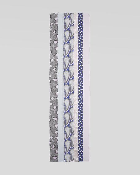 Boomerang Scarf, Lavender/Multicolor