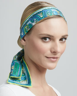 Emilio Pucci Head/Neck Wrap, Green