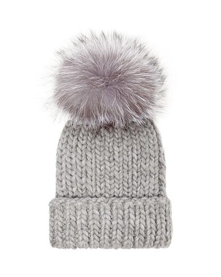 Eugenia Kim Rain Knit Hat with Fur Pompom 6cde35c384e