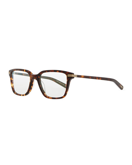Stone Rectangle Fashion Glasses, Tortoise