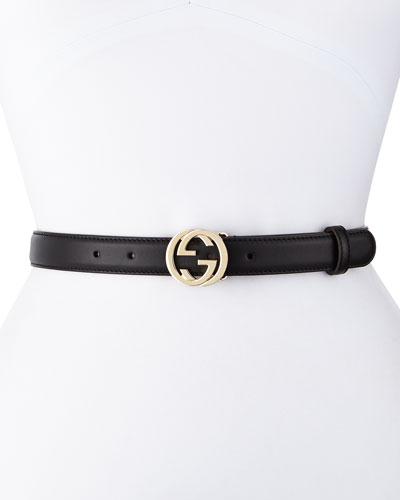 Interlocking G-Buckle Belt, Black
