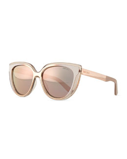 Cindy Cat-Eye Sunglasses, Brown