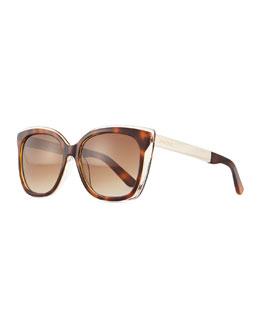 Octavia Square Sunglasses, Havana