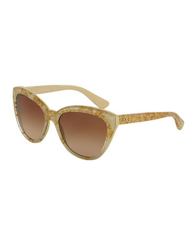 Golden Leaves Sunglasses, Ivory