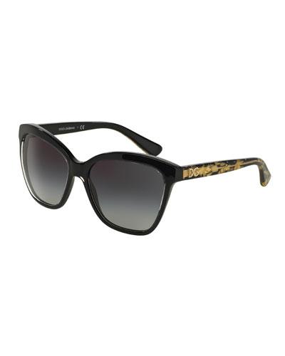 Golden Leaves Sunglasses, Black