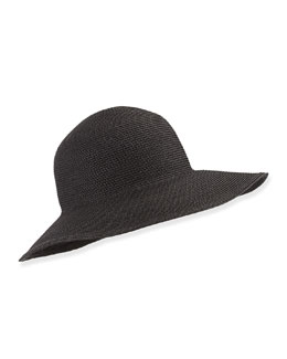 Squishee IV Floppy Hat, Black