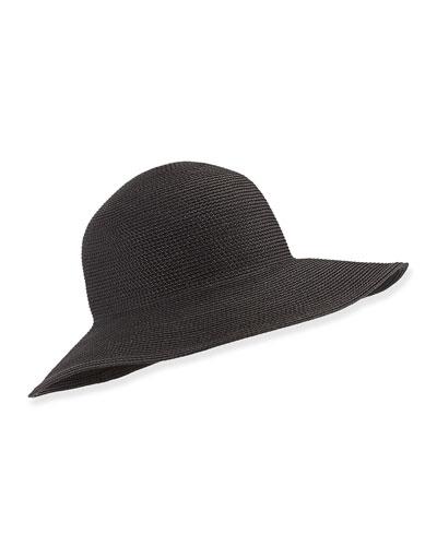 Squishee IV Floppy Hat, Black